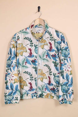 Loot Vintage Windbreaker Leaves Scene Windbreaker