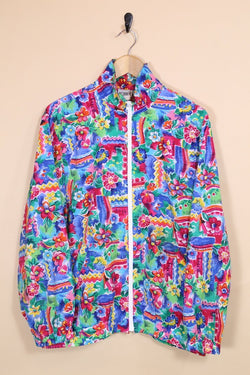 Loot Vintage Windbreaker Vintage Abstract Print Windbreaker