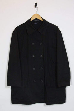 Nautica Coat 14 / blue Vintage Nautica Black Mac