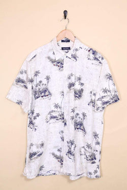 Nautica Shirt Vintage Nautica Printed Hut Hawaiian Shirt
