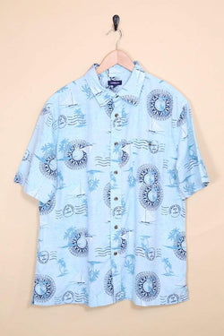 Nautica Shirt Vintage Nautical Hawaiian Shirt