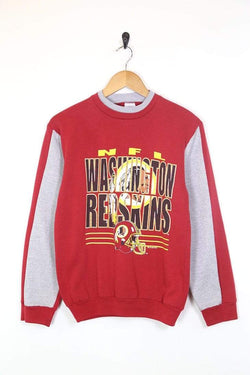 1990s Women's NFL Printed Sweatshirt - Red S