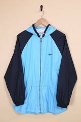 2000s Women's Nike Windbreaker - Blue M