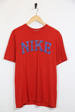 Nike T-Shirt M / Red / Cotton Men's Nike T-Shirt - Red M