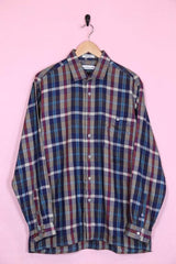 Pierre Cardin Shirt Large / Multi Vintage Pierre Cardin Architect Check Shirt