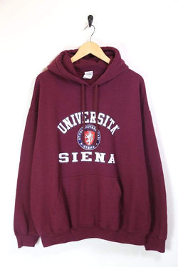 Men's University Printed Hoodie - Red XL