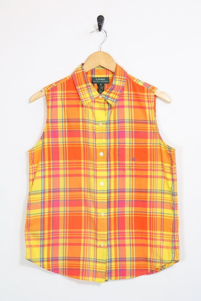 Ralph Lauren Shirt 12 / orange Vintage Ralph Lauren Sleeveless Shirt