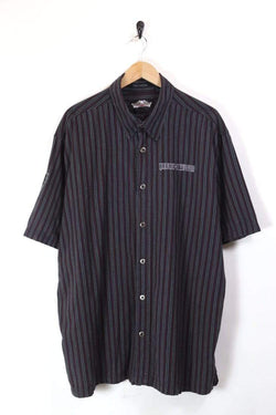 Men's Harley Davidson Striped Shirt - Black XL
