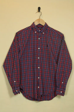 Women's Ralph Lauren Checked Shirt - Red XS