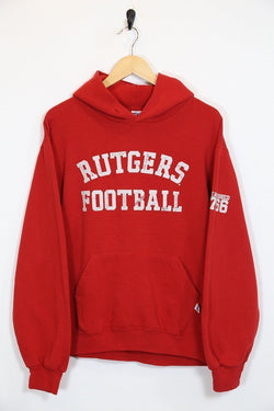 2000s Men's Russell Athletic Sports Hoodie - Red S