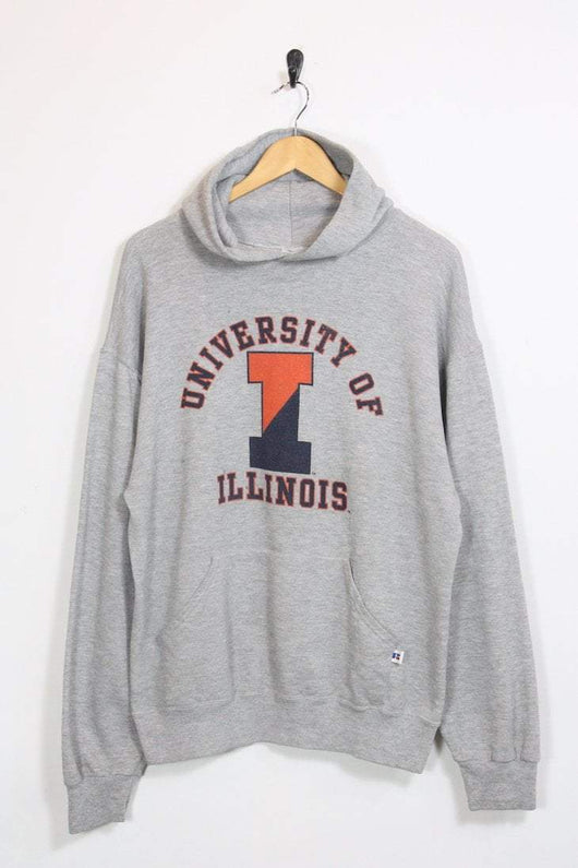 Russell Athletic Hoodie XL / grey Vintage 'University of Illinois' Russell Athletic Hoodie