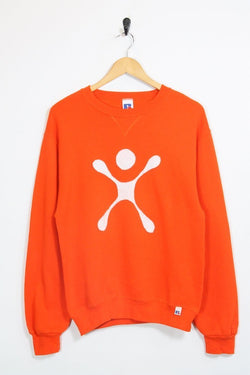 Russell Athletic Sweatshirt 10 / orange Vintage Russell Athletic Graphic Sweatshirt