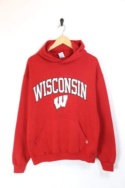 Men's University Printed Hoodie - Red L