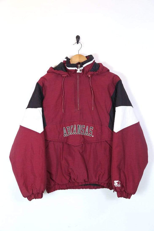 Starter Jacket Men's Starter Arkansas Razorbacks Jacket - Red M