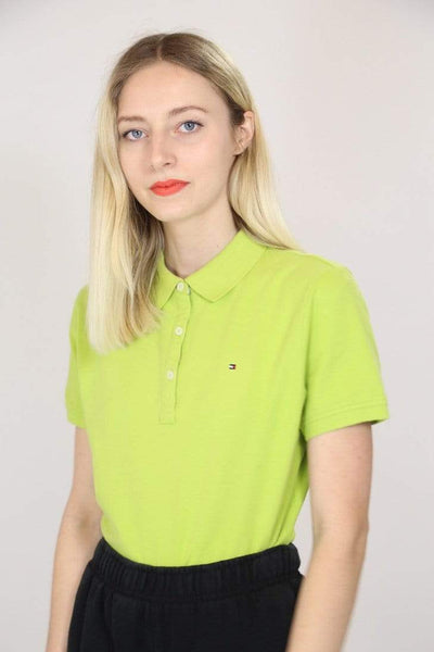 Tommy Hilfiger Polo Shirt M / Green / Cotton Women's Tommy Hilfiger Polo Shirt - Green M