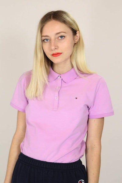Tommy Hilfiger Polo Shirt M / Purple / Cotton Women's Tommy Hilfiger Polo Shirt - Purple M