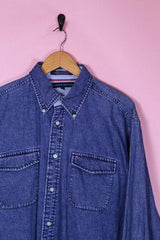 Tommy Hilfiger Shirt Large / Blue Tommy Hilfiger Denim Shirt