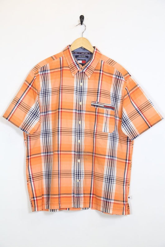 4919cf7b Tommy Hilfiger Shirt Vintage Tommy Hilfiger Orange Check Shirt