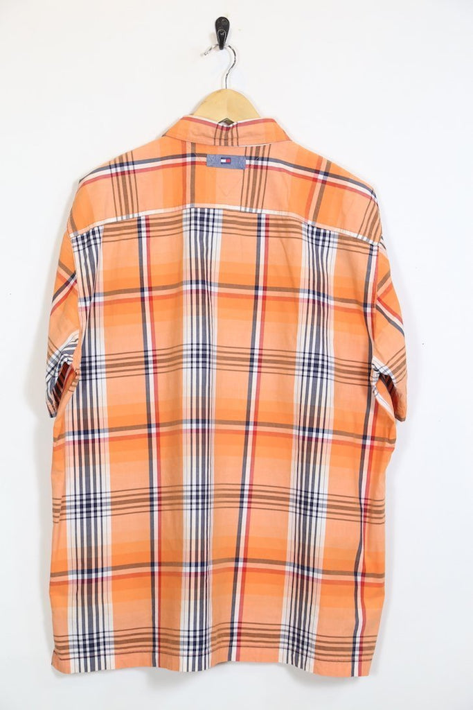 13123b05 Vintage Tommy Hilfiger Orange Check Shirt