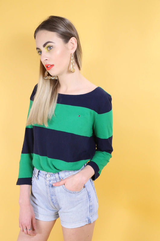 Tommy Hilfiger T-Shirt 10 / Green Tommy Hilfiger Striped Top