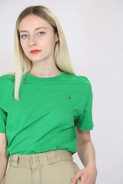2000s Women's Tommy Hilfiger T-Shirt - Green M