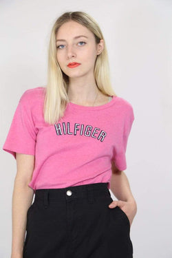 Tommy Hilfiger T-Shirt XL / Pink / Cotton Women's Tommy Hilfiger T-Shirt - Pink XL