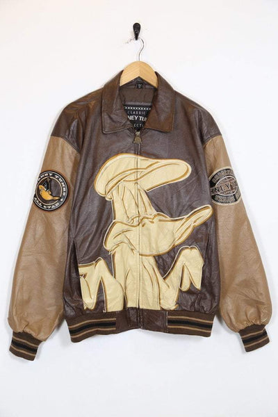 Warner Bros Jacket Vintage Daffy Duck Leather Jacket