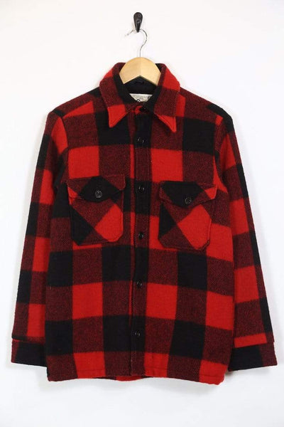 Woolrich Jacket S / Red / Wool Men's Woolrich Checked Jacket - Red S