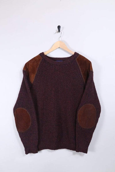 Woolrich Jumper Medium / Burgundy Vintage Woolrich Knitted Jumper