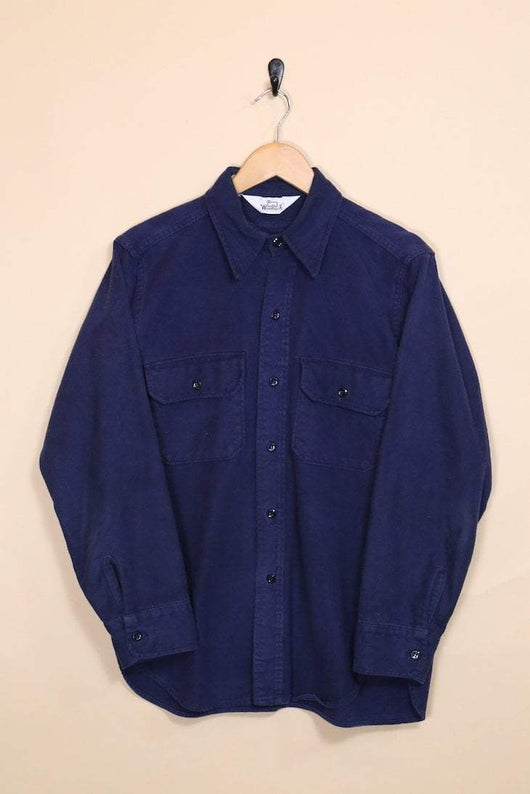 Woolrich Shirt Vintage Woolrich Plain Cotton Shirt