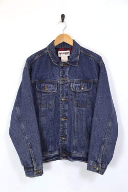 Men's Wrangler Lined Denim Jacket - Blue L