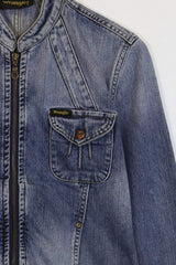 Wrangler Jacket S / Blue / Cotton Women's Wrangler Denim Jacket - Blue S