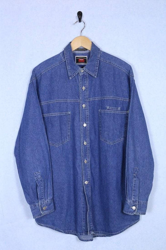 Wrangler Shirt Large / Blue Vintage Wrangler Denim Shirt