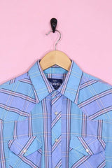 Wrangler Shirt Large / Blue Vintage Wrangler Striped Shirt