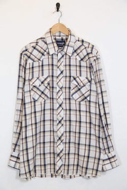 Wrangler Shirt Vintage Wrangler Checked Shirt