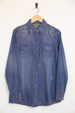 Wrangler Shirt Vintage Wrangler Studded Denim Shirt