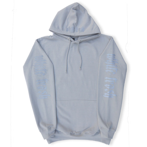GREY 'WHITE TRASH' OVERSIZED HOODIE (3M)