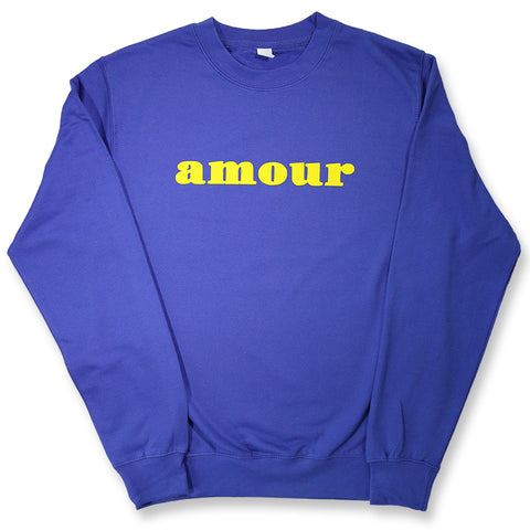 "CREWNECK ""AMOUR"" BLUE/ YELLOW"