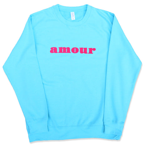 "CREWNECK ""AMOUR"" TURQUOISE/ CANDY"