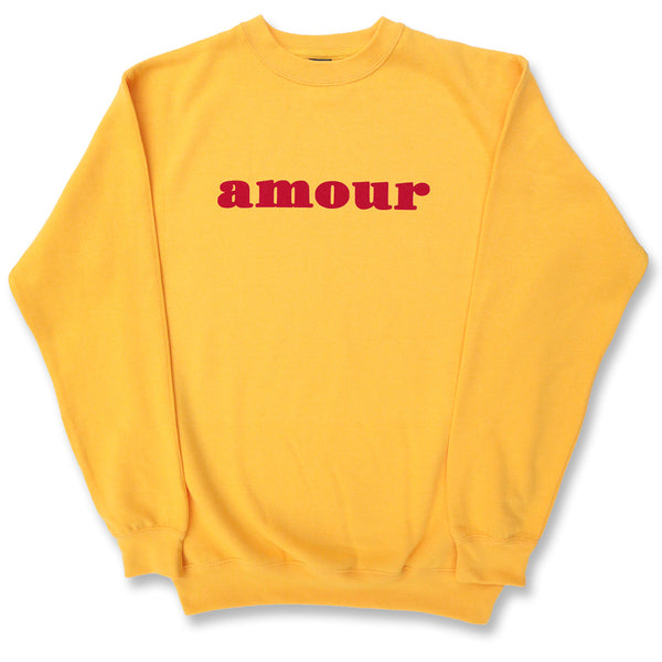 "CREWNECK ""AMOUR"" YELLOW/ RED"