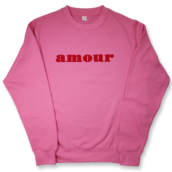 "CREWNECK ""AMOUR"" PINK/ RED"