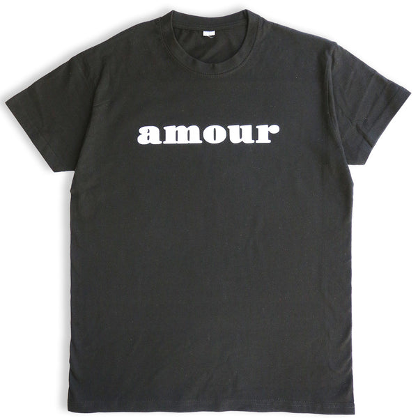 AMOUR TEE SHIRT (BLACK/ WHITE)