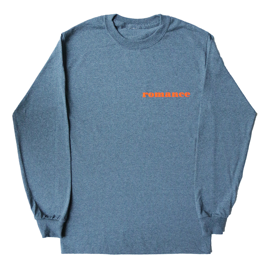 "GREY LONG SLEEVES T SHIRT ""ROMANCE"""