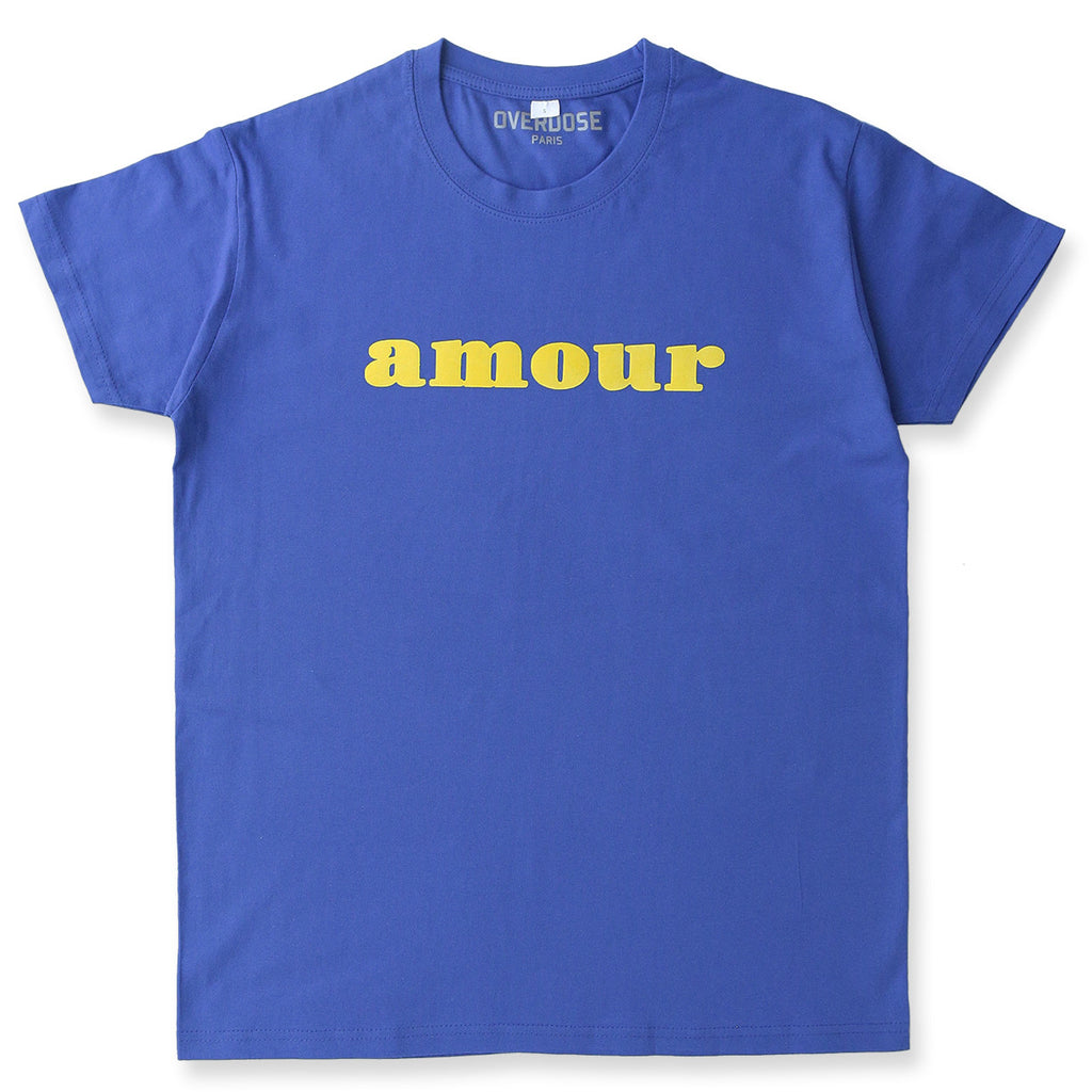 AMOUR TEE SHIRT (ROYAL BLUE/ YELLOW)