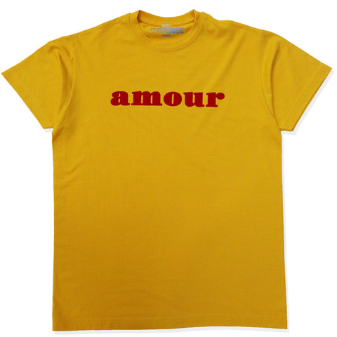 AMOUR TEE SHIRT (YELLOW/ RED)