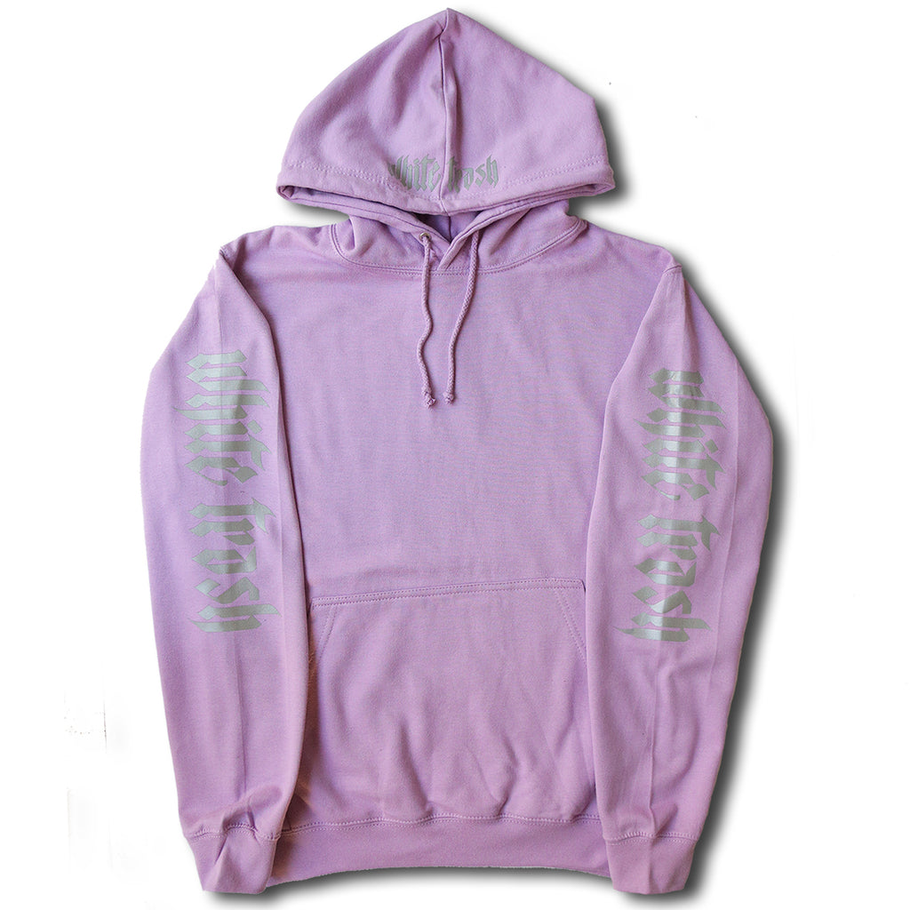 LILAC 'WHITE TRASH' OVERSIZED HOODIE (3M)