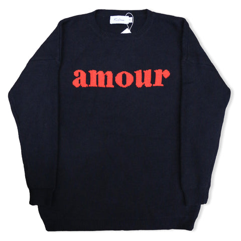 "w/ FEELKOO ""AMOUR"" LOGO CREWNECK SWEATER"