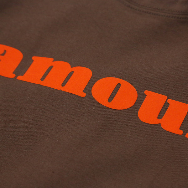 AMOUR TEE SHIRT (CHOCOLATE/ ORANGE)