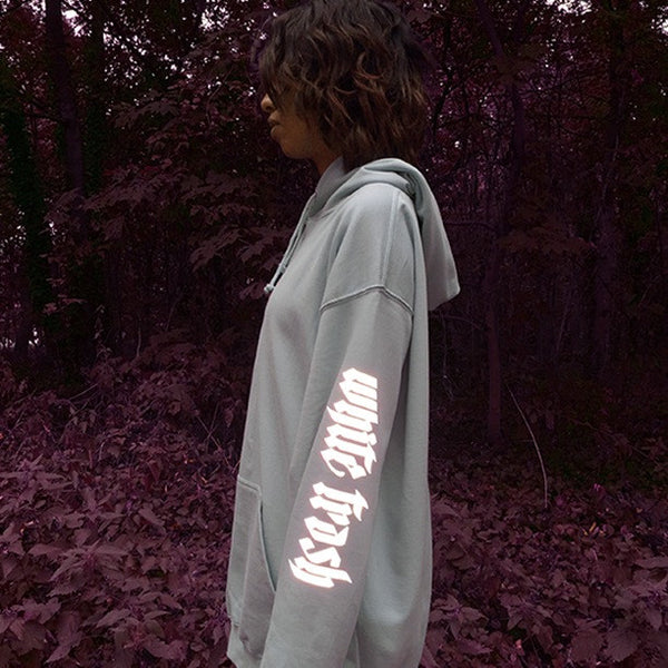 SKY BLUE 'WHITE TRASH' OVERSIZED HOODIE (3M)