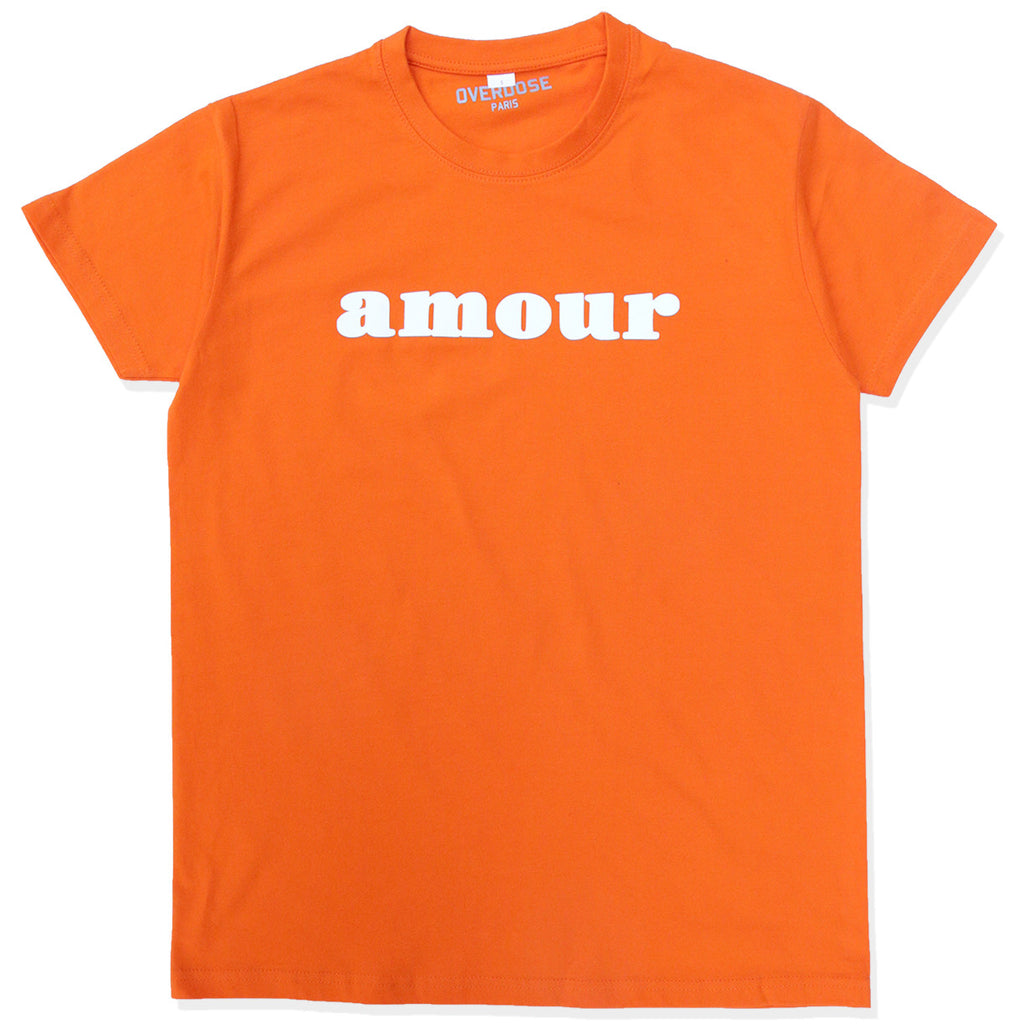 AMOUR TEE SHIRT (CITRUS/ WHITE)